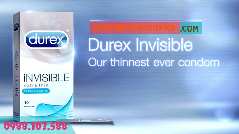 Bao Cao Su Durex Invisible Extra Thin sản phẩm chất lượng cao