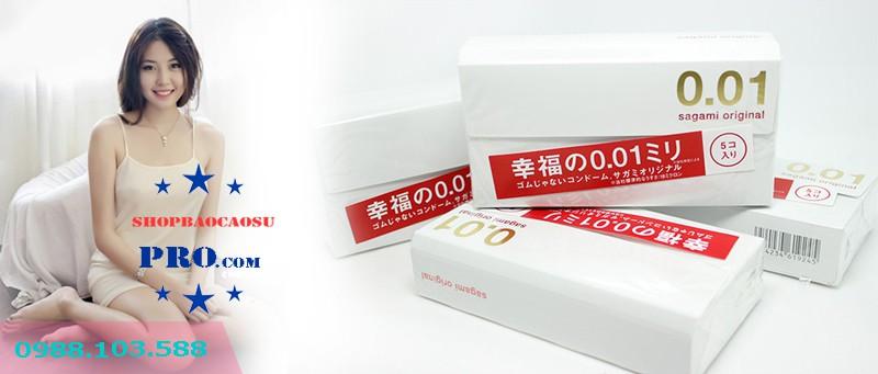 bao cao su sagami original 0.01 hộp 1 chiếc