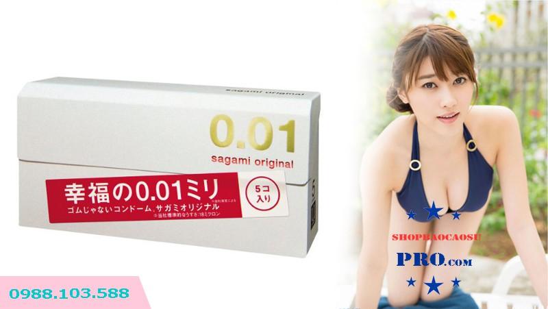 bao cao su sagami original 0.01 xuất xứ nhật bản