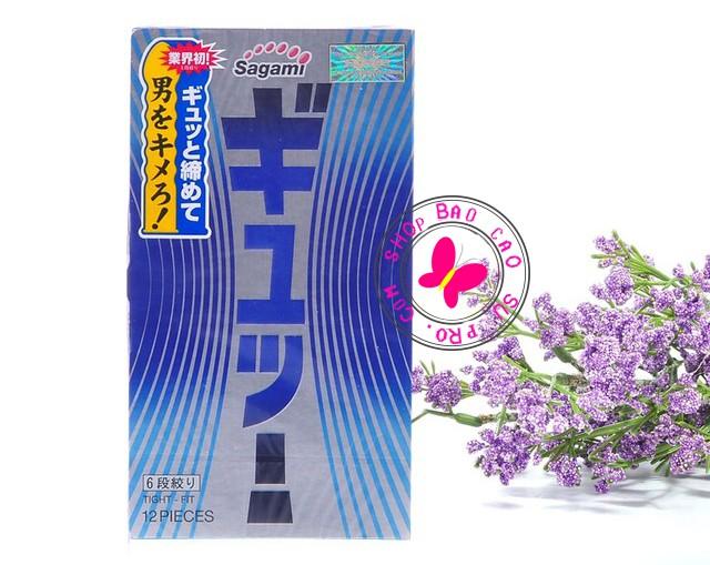 bao cao su Sagami Tight Fit hộp 12 chiếc