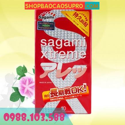 Bao cao su Sagami Xtreme Feel Long hộp 10 chiếc
