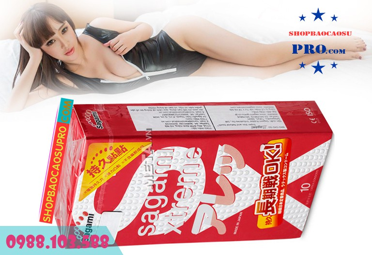 Bao cao su Sagami Xtreme Feel Long thiết kế siêu mỏng