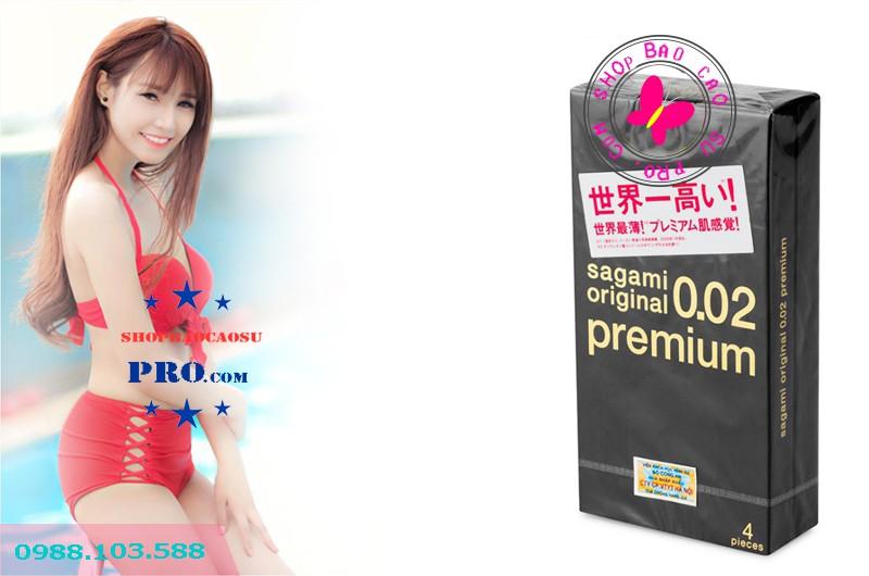 bao cao su siêu mỏng Sagami Original 0.02 Premium