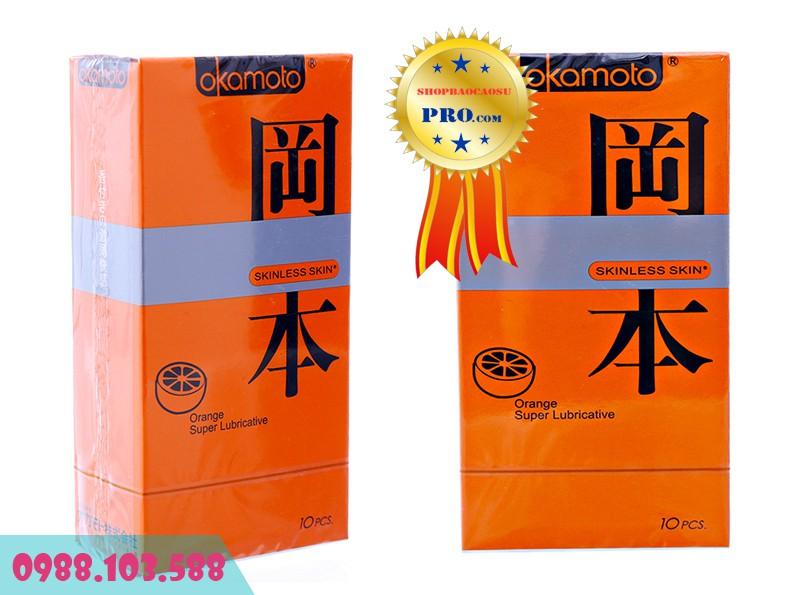 quy cách đóng gói Okamoto Orange Super Lubricative