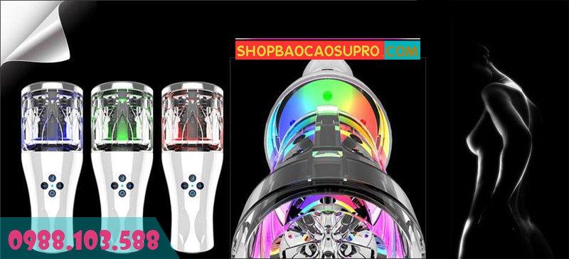 đồ chơi tình dục âm đạo giả Youcup sử dụng đèn led 7 màu sang trọng