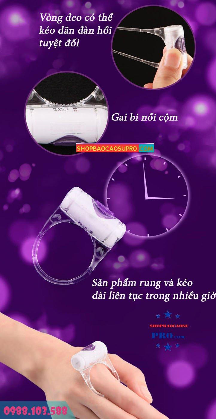 vòng rung durex vibrating ring có thể đeo ngón tay