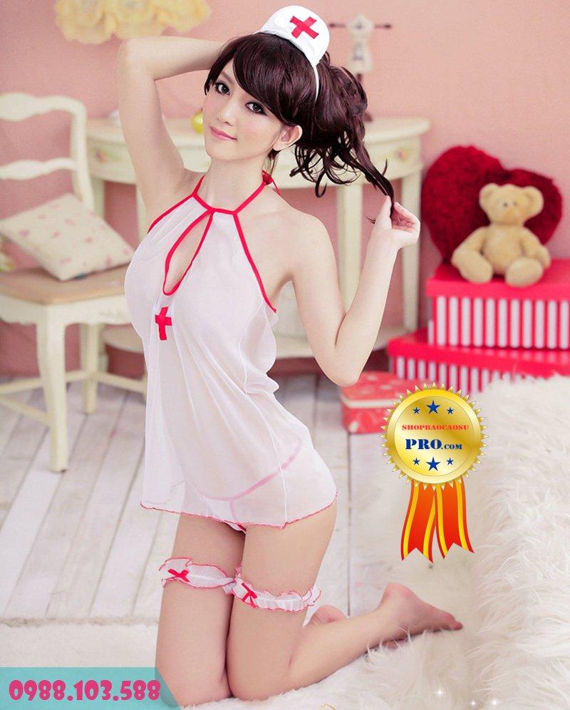 bộ đồ ngủ gợi dục cô y tá thiết kế cách điệu