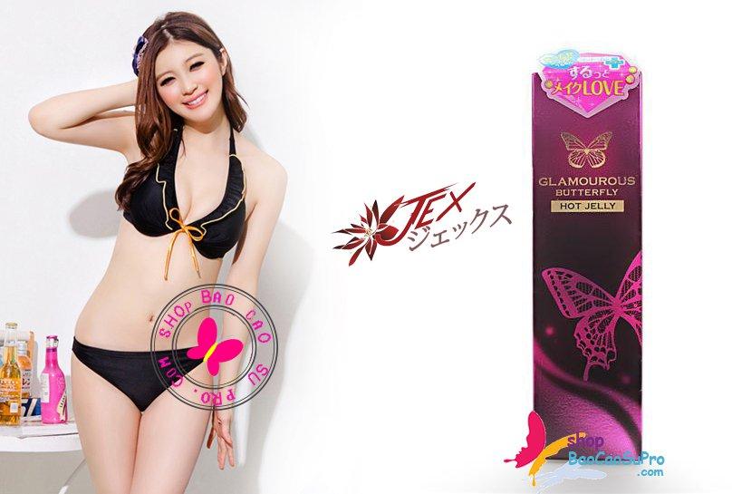 ấm áp ngọt ngào với gel bôi trơn JEX Glamourous Butterfly Hot Jelly