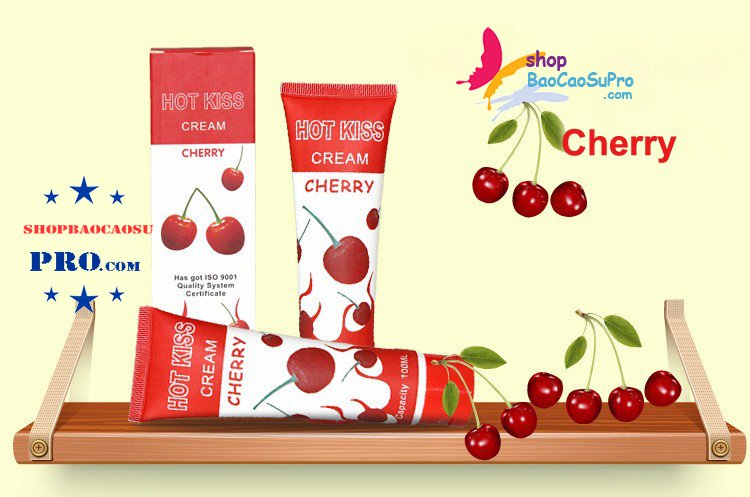 gel bôi trơn love kiss cherry