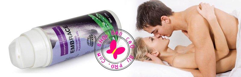 gel bôi trơn tăng khoái cảm se khít âm đạo Embrace