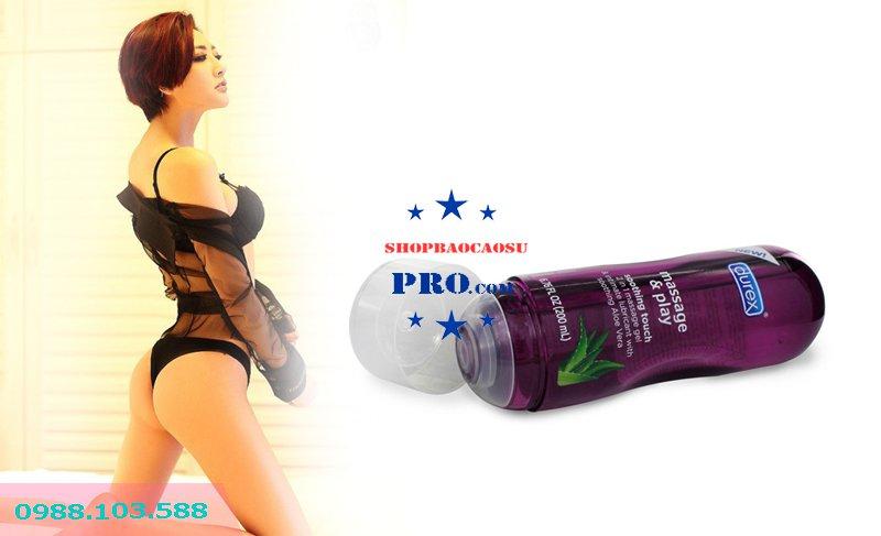 gel bôi trơn tạo ẩm Durex Play Massage 2 in 1