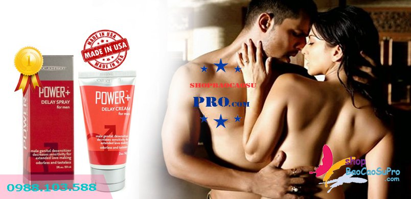 kem bôi trơn power delay cream for men doc johnson