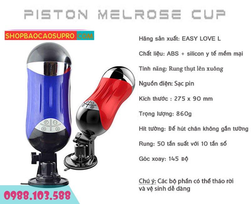 cách sử dụng âm đạo giả tự động Piston Melrose Cup