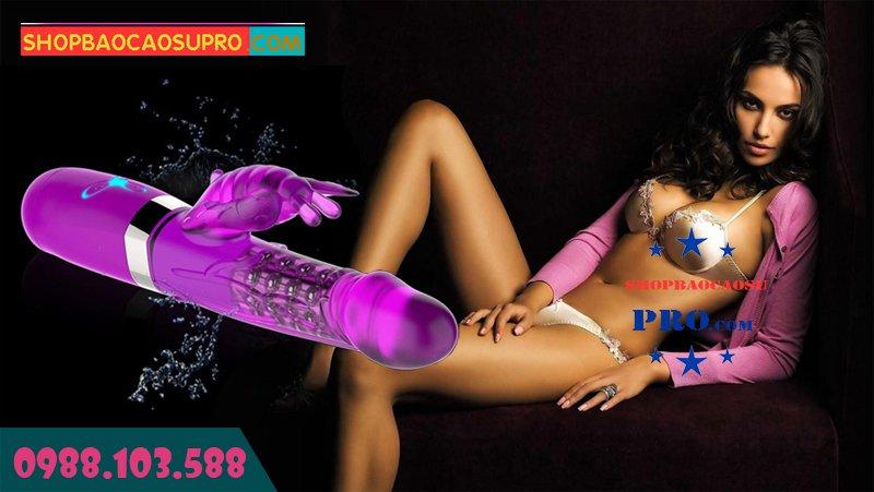 dương vật giả đa năng rung xoay ngoáy 360 độ ngoáy lắc đảo chiều tăng khoái cảm cho nữ