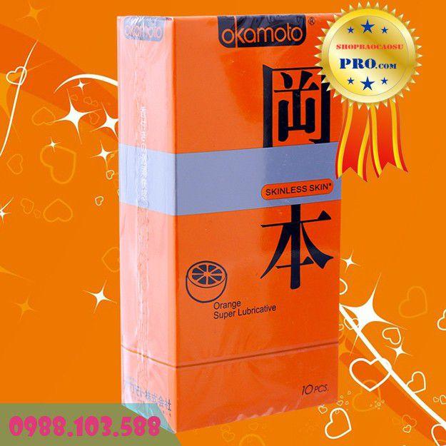Bao Cao Su Hương Trái Cây Okamoto Orange Super Lubricative