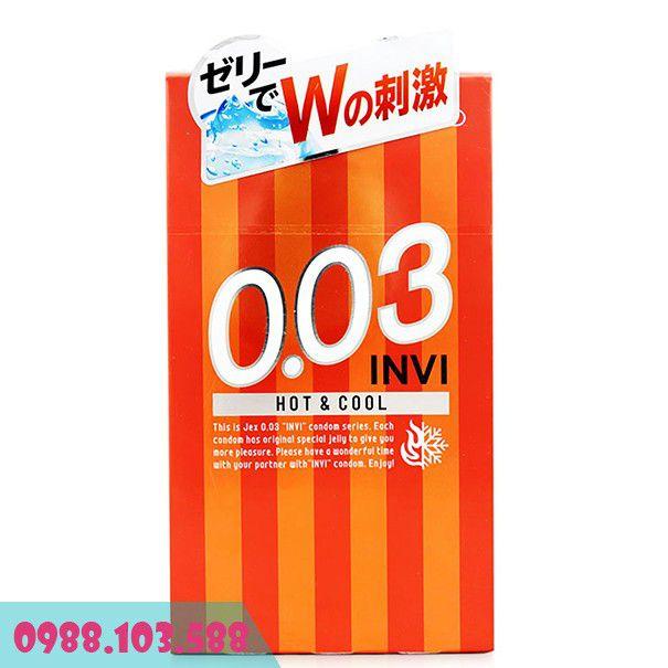 Bao Cao Su Jex Invi 0.03 Hot & Cool