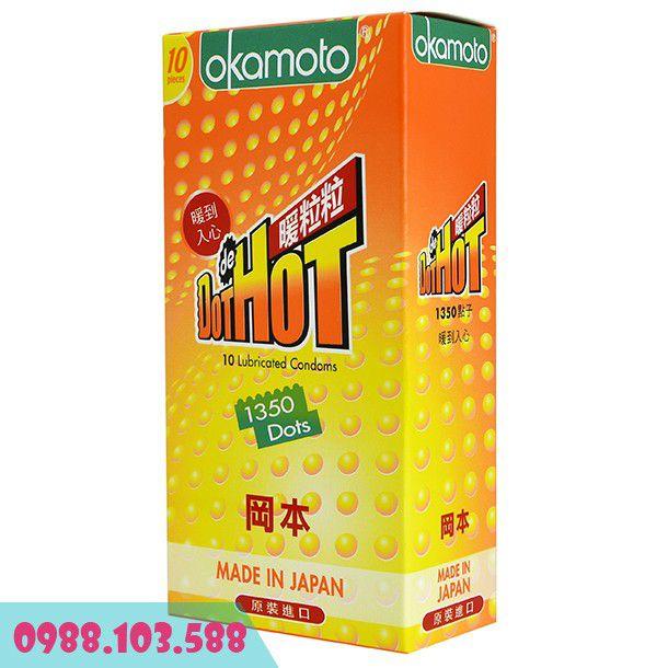 Bao cao su Okamoto Dot De Hot