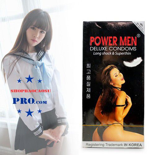 Bao cao su Power Men Long Shock and Superthin