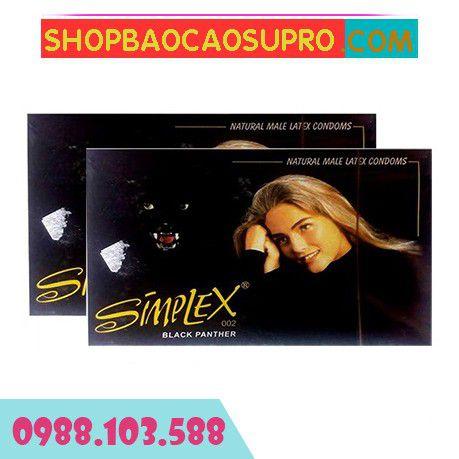 Bao cao su Simplex Báo đen