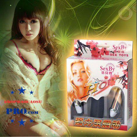 dụng cụ tình dục cho nam và nữ trứng rung 2 đầu inox cao cấp