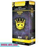Bao cao su Okamoto Super Thin & Soft Crown - Siêu Mỏng, Truyền Nhiệt Nhanh - Hộp Lớn