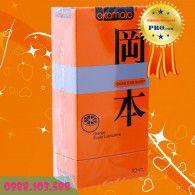 Bao Cao Su Okamoto Orange Super Lubricative - Siêu Mỏng - Hương Trái Cây - Hương Cam