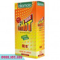 Hơi Ấm Nồng Nàn Với Bao cao su Okamoto Dot De Hot - 1350 hạt gai nổi nhỏ