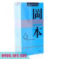 Bao Cao Su Okamoto Skinless Skin Super Lubricative cực nhiều gel bôi trơn, siêu mỏng, không mùi cao su.