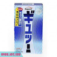 Bao cao su Sagami Tight Fit siêu mỏng - 6 gân lượn sóng