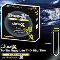 Trải nghiệm cảm giác ôm khít tự nhiên với 4 hộp bao cao su True-X CloseX