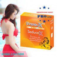 Siêu Mạnh Mẽ với 4 Hộp Bao cao su TrueX SeduceX - Với 600 Bi Nổi Dọc Thân Bao