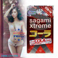 Vừa Khít Siêu Mỏng Kết Hợp Hương Cola Với Bao Cao su Sagami Xtreme Cola