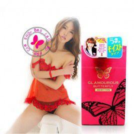 Bao cao su Cao Cấp Jex Glamourour Butterfly Moist Type siêu mỏng, siêu trơn, cho cuộc yêu thêm cảm xúc