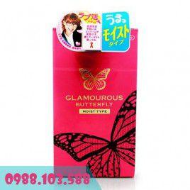 Bao cao su Cao Cấp Jex Glamourour Butterfly Moist Type siêu mỏng, siêu trơn