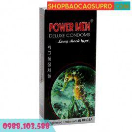Bao Cao Su Power Men Cá ngựa giúp nam giới Yêu Lâu Hơn - Siêu Mỏng - Gai Chìm và Bi Nổi
