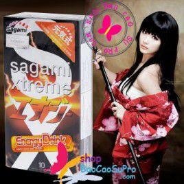 Tiếp thêm sức mạnh với Bao Cao Su Sagami Xtreme Energy Siêu Khít, Siêu Mỏng, Hương Samurai Nhật Bản