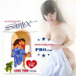 Bao cao su Simplex Long Love – Diệt tinh trùng - Siêu mỏng - Chống xuất tinh sớm - Hộp Lớn