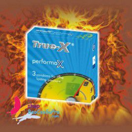 Combo Giá Cực Shock 4 Hộp Bao Cao Su True-X PerformaX - Như Dùng Thuốc Kéo Dài Thời Gian Quan Hệ