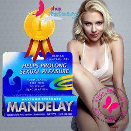 Gel bôi trơn trị xuất tinh sớm Mandelay 2in1- Tăng độ ẩm cho nàng - Kéo dài thời gian cho chàng đến 30 phút