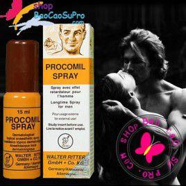 Thuốc xịt trị xuất tinh sớm, kéo dài thời gian quan hệ Procomil Spray - Lấy lại phong độ và bản lĩnh phái mạnh.